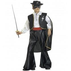 Zorro bandita jelmez 5-7 éveseknek 128 cm-es