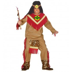 Indián harcos fiú jelmez 5-7 éveseknek 128 cm-es