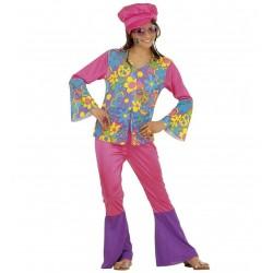 Hippi lány jelmez 8-10 éveseknek  140 cm-es