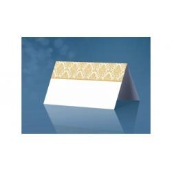 Esküvői Ültetőkártya Arany Motívumos Mintával - 25 db-os