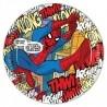Pókember - Spiderman Parti Papír Tányér - 23 cm, 8 db-os