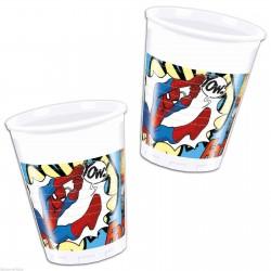 Pókember - Spiderman Parti Pohár - 200 ml, 8 db-os