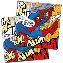 Pókember - Spiderman Parti Szalvéta - 33 cm x 33 cm, 20 db-os