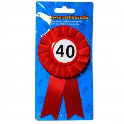 40. Születésnapi szalagos kitűző, sebességkorlátozós