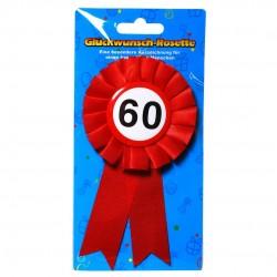 60. Születésnapi szalagos kitűző, sebességkorlátozós