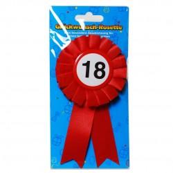 18. Születésnapi szalagos kitűző, sebességkorlátozós