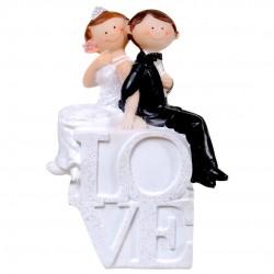 Esküvői persely - ifjú pár LOVE felirattal