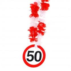 50-es számos születésnapi nyakfüzér