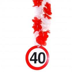 40-es számos születésnapi nyakfüzér