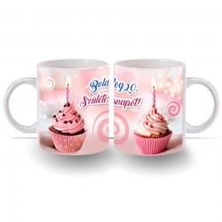 20. Születésnapi számos bögre - Muffin sütis