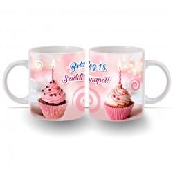 18. Születésnapi számos bögre - Muffin sütis