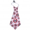 Óriás születésnapi sebességkorlátozó nyakkendő 40. születésnapra