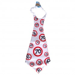 Óriás születésnapi sebességkorlátozó nyakkendő 70. születésnapra