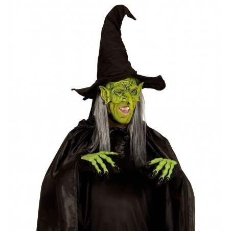 Horrorisztikus boszorkány maszk Halloweenre