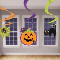 Vidám halloween spirális függő dekoráció