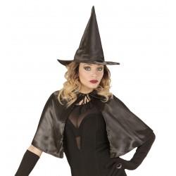 Boszorkány szett - kalappal és pelerinnel