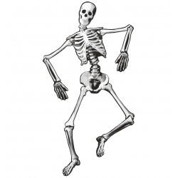 Mozgatható papír csontváz halloween dekoráció 134 cm