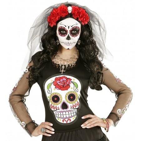 halott menyasszony maszk fátyollal halloweenre b8f78fd4b4