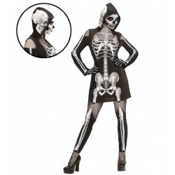 Elegáns Női Csontváz Jelmez, M-es