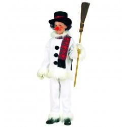 Hóember jelmez 128 cm, 5-7 éveseknek