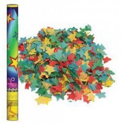 Konfetti ágyú 60 cm-es, színes papír csillagok konfettiket kilövő