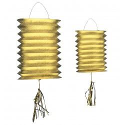 Arany színű lampion szett 2 db-os 20 cm-es