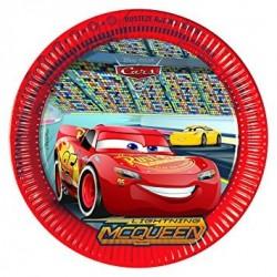 Verdák Parti Tányér - Cars Neon City - 23 cm, 8 db-os