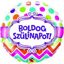 Boldog születésnapot héliumos fólia lufi - 46 cm