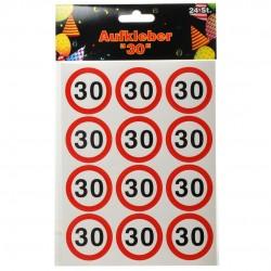 Születésnapi számos matrica 30-as sebességkorlátozós