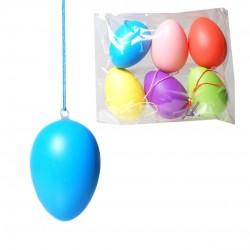 Húsvéti dekorációs tojás színes, mintás 12 db