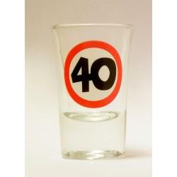 40-es Sebességkorlátozó Szülinapi Felespohár