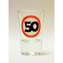 50-es Sebességkorlátozó Szülinapi Felespohár