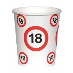 Születésnapi papír parti pohár 6 db-os