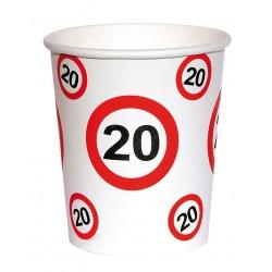 18-as születésnapi papír parti pohár 6 db-os