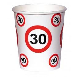 30-as születésnapi papír parti pohár 6 db-os