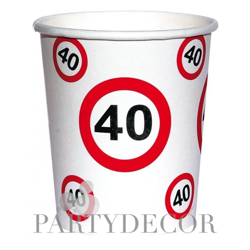 40-es születésnapi papír parti pohár 6 db-os