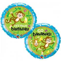 Majmos születésnapi héliumos fólia lufi
