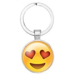 Emoji kulcstartó - Szerelmes smile