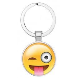 Emoji kulcstartó - Kacsintós smile