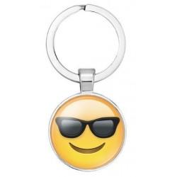 Emoji kulcstartó - Napszemüveges smile