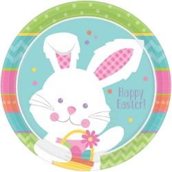 Húsvéti nyuszis parti tányér