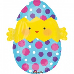 Húsvéti héliumos lufi - kiscsibe tojásban