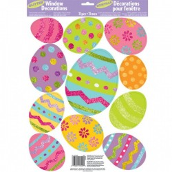 Húsvéti glitteres tojások ablakdekoráció