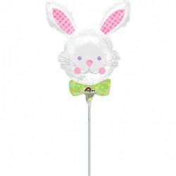 Nyuszifej - Bunny Hug Head Húsvéti Mini Shape Fólia Lufi