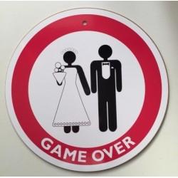 Sebességkorlátozós esküvői GAME OVER tábla