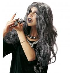 Crudelia szürke hosszú boszorkány paróka
