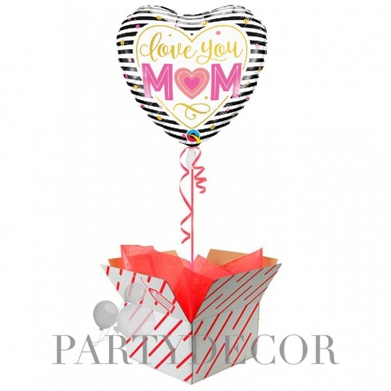 Anyák napi héliumos fólia lufi - Love You Mom