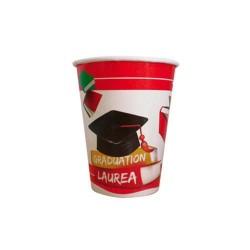 Ballagási pohár diplomaosztó kalappal
