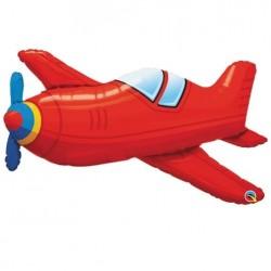 Piros repülőgép alakú fólia lufi