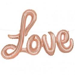 LOVE felirat - lufi rosegold színű 91 cm-es